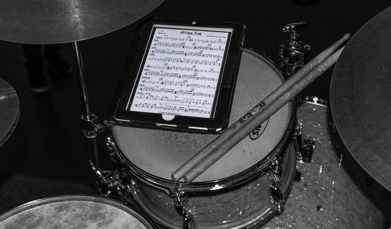 Example of a quick gig drum chart on a tablet